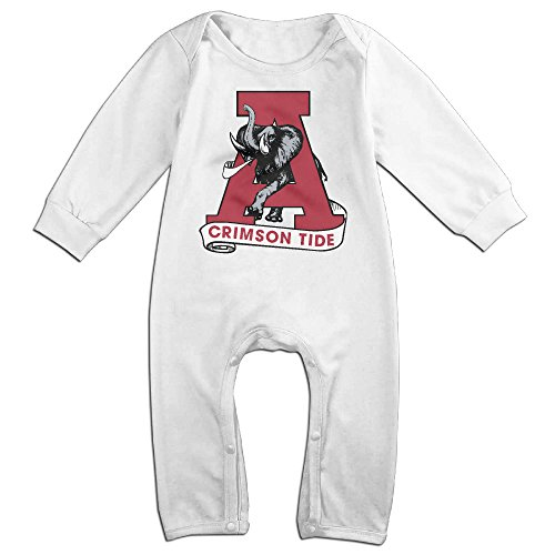 Ahey Babys University Of Crimson Tide Long Sleeve Jumpsuit Outfits 18 Months
