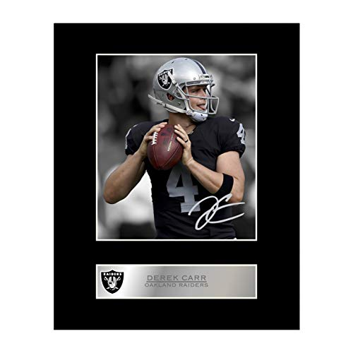 (Derek Carr Signed Mounted Photo Display Oakland Raiders )
