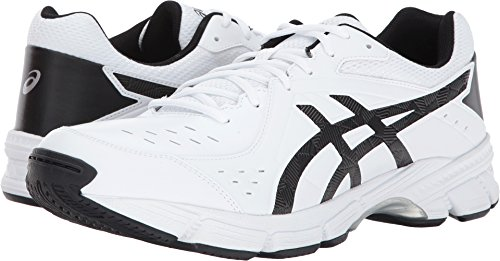 ASICS Men's GEL-195TR Wide Cross Training White/Black/Silver 12 2E US
