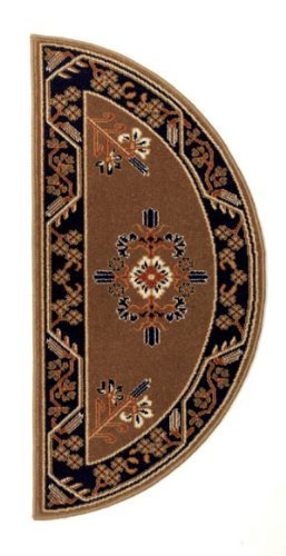 Minuteman International Cocoa Jardin Half Round Wool Hearth Rug by Minuteman International