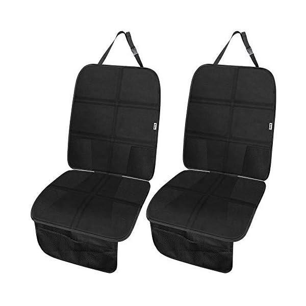 Rovtop 2 Pack Proteggi Sedile Auto, Coprisedile Bambini,per Proteggere la Tappezzeria in Pelle del Veicolo,Adatto per… 1