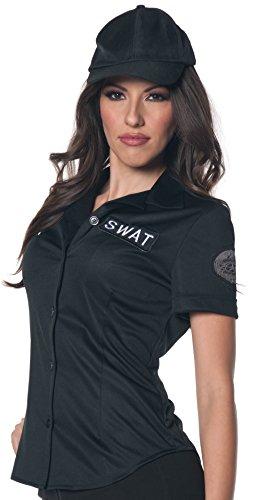 Underwraps Women's Plus-Size Swat Fitted Shirt, Black, 3X-Large -