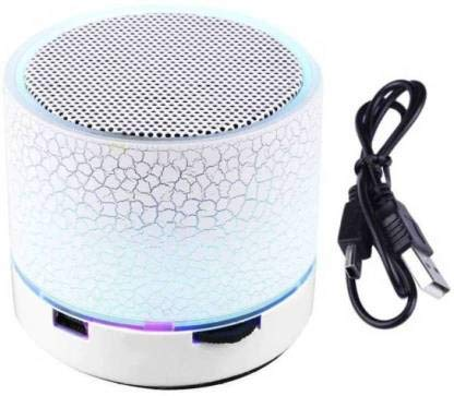 SBA200919S10S19 Wireless S-10 Led Bluetooth Speaker with FM/Radio | Stereo Sound Compatible with All Android, iOS & Windows Device (Assorted Colour)