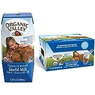 Organic Valley, Milk Boxes, Shelf Stable 1% Milk, Healthy Snacks, 6.75oz (Pack of 24)