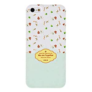 WEV Lovely Flowers Pattern Hard Case for iPhone 5/5S