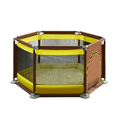 逸話洗練見出しTGG 子供用ゲームフェンス、家庭用赤ちゃんアンチフォールフェンス幼児室内幼児安全クロール保護フェンス140 * 124 * 65CM 持ち運びが簡単 (色 : 青)