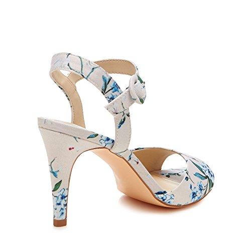 Debut Womens 'Daenerys' Heel Strap Multi Stiletto High Ankle Sandals Coloured TTtrw