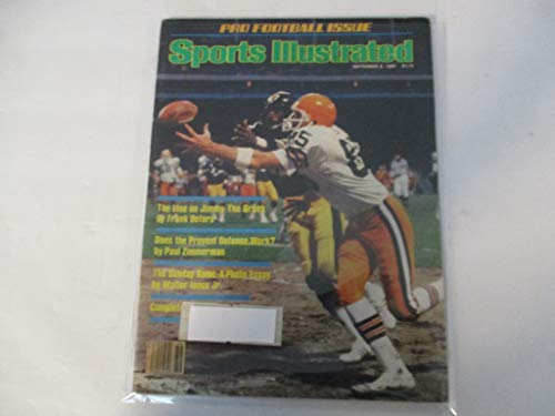 SEPTEMBER 8, 1980 SPORTS ILLUSTRATED MAGAZINE FEATURING PRO FOOTBALL ISSUE *THE LINE ON JIMMY THE GREEK BY FRANK DEFORD* *DOES THE PREVENT DEFENSE WORK? BY PAUL ZIMMERMAN*