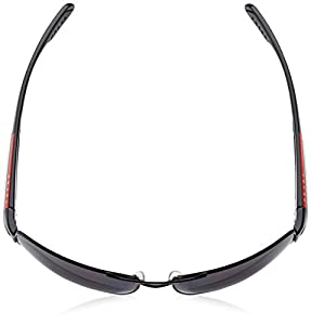 Prada Linea Rossa PS53NS Sunglasses w/ UV Coated Lenses 7AX5W1-65 - Black Frame, Polar Grey