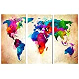 Frameless Map of world Abstract Painting Diy Digital Paintng By Numbers Modern Wall Art Picture For Home Wall Artwork