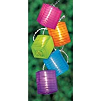 Lantern Lights Multicolored 10 Patio Light Set, 7-1/2-Foot from amscan - Lawn & Garden