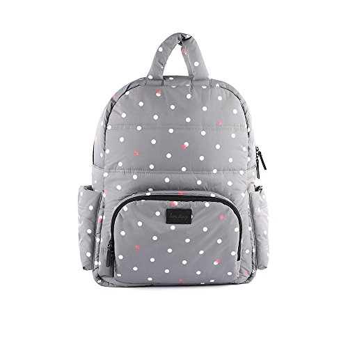 7AM Enfant BK718 Backpack, Grey Polka Dots by 7AM Enfant