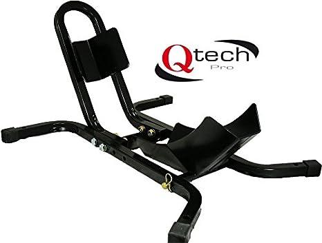 Qtech Resistente con bulloni di Fissaggio al Pavimento Binario Verticale per Moto con Ruote da 17-21 Pollici e Morsetto Universale