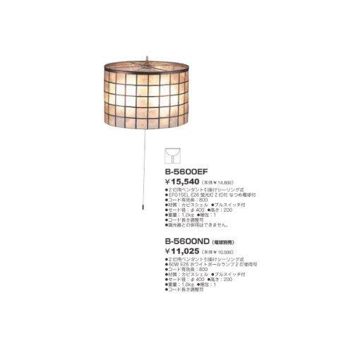 東京メタル カピスペンダント 電球形蛍光灯付 B-5600EFZ B00S64H67M  電球付