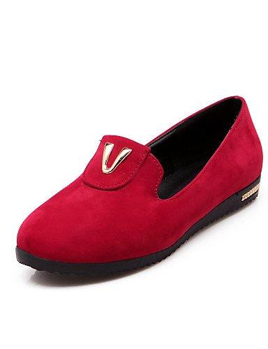 Red Beige 5 Mujer De Tacón Casual Uk6 Punta Gyht Zq us8 Beige Semicuero 5 Mocasines Redonda Exterior Zapatos 5 Negro Cn39 Rojo us6 Cn37 Eu37 7 Plano Uk4 Eu39 RqxEFZ