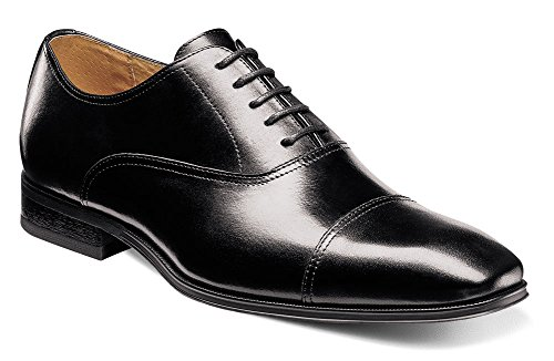 Florsheim Mens Corbetta Cap Ox Oxford Black Smooth