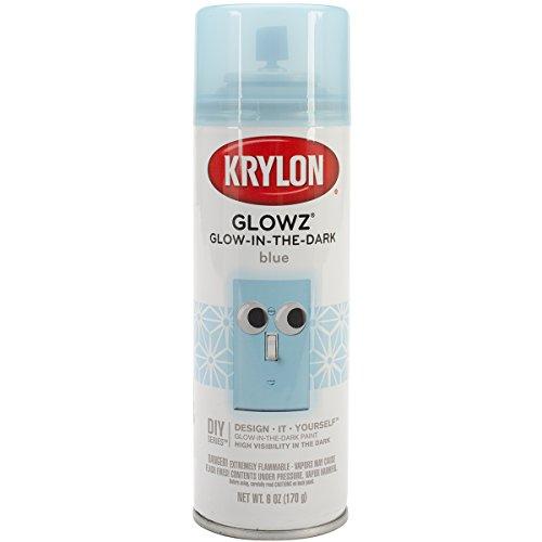 Krylon K03153000 Glowz Glow-in-The-Dark Paint, Blue, 6 Ounce ()
