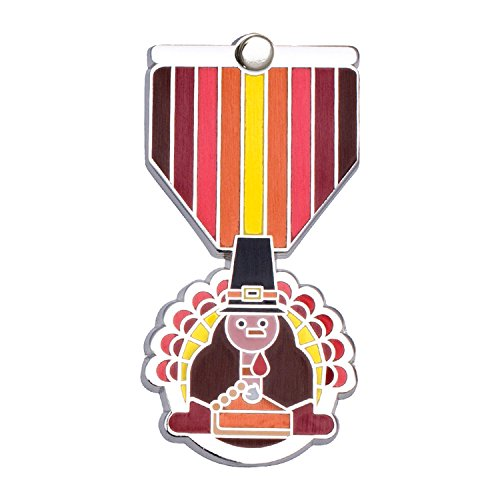 THANKSGIVING Greeting Card & Gift (Lapel Pin / Necklace Charm) Holiday Thank You Note by Merit Medals