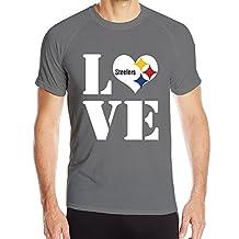 Candi Men's Pittsburgh Steeler Summer Sports T Shirt Black