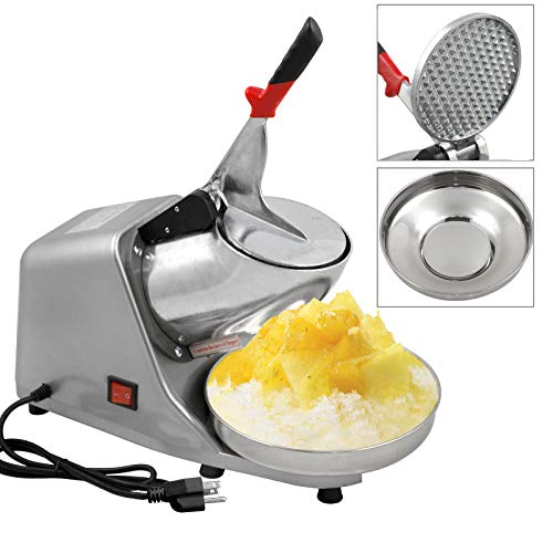 Zenchef Upgraded 300W Electric Ice Shaver Ice Shaved Machine Snow Cone Maker 143 lbs (Silver) ()