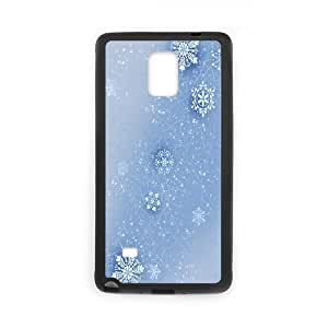 Samsung Galaxy Note 4 Cases Snowflake, Luxury Case for Samsung Galaxy Note 4 - [Black] Okaycosama