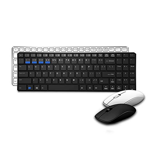 Multi-mode wireless mouse and keyboard set office Bluetooth multimedia slim fashion