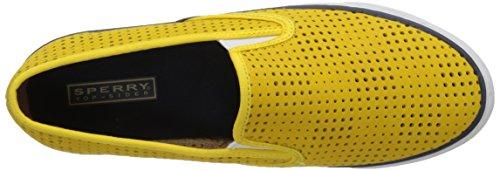 Sperry Top-sider Womens Kyst Perfed Skinn Mote Sneaker Gul