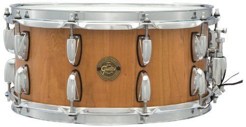 Gretsch Drums Gold Series S1-6514SSC-SN 14-Inch Snare Drum, Gloss Stave Snare Drum Shell