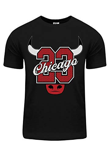 BU69_M Chicago 23 Jersey Bull Horn with red foil M