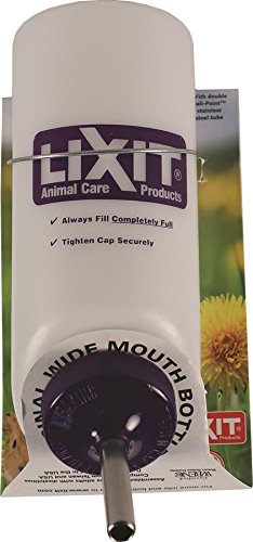 LIXIT Natural Wide Mouth Water Bottle for Pets,16 Ounce