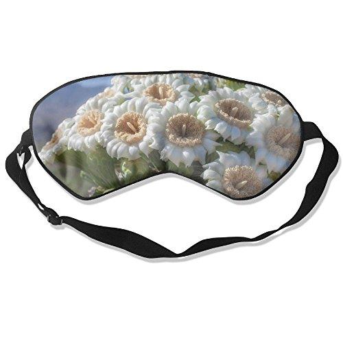 USYOMASK 100% Mulberry Silk Sleep Mask for A Full Night's Sleep, Comfortable and Super Soft Eye Mask with Adjustable Strap, Blindfold, Blocks Light, Saguaro Cactus ()