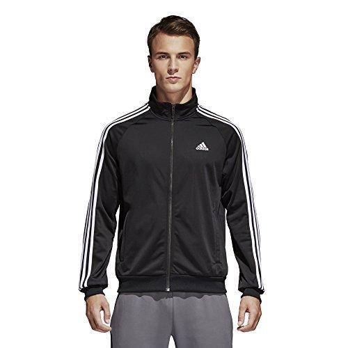 adidas Men's Big & Tall Essentials 3-Stripes Tricot Track Jacket Black/White XXXX-Large by adidas (Image #3)