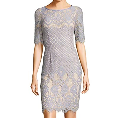 Adrianna Papell Women's Bell Sleeve Georgia Lace Sheath at Women's Clothing store