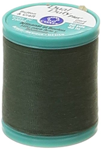 Coats: Thread & Zippers Dual Duty Plus Button and Carpet Thread, 50-Yard, Forest Green