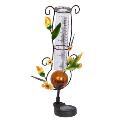 Headwind EZREAD Garden Splendor 830-1703 Hummingbird Solar Deco Rain Gauge by Headwind