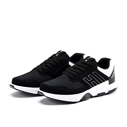 Ademend Zacht Comofortable Schoen Sneakers Hardloopschoen Voor Man Zwart