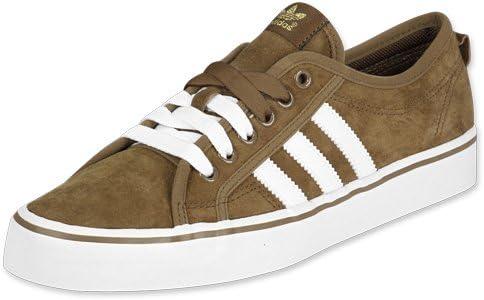 A bordo Fare affidamento su grande  adidas Nizza Scarpe Sneakers Basse Uomo CAMOSCIO Marrone Bianco Stringhe  (44_2/3, Marrone): Amazon.it: Scarpe e borse