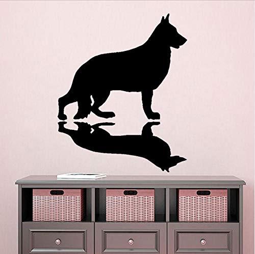 (Wall Stickers Murals 41cmx50Cm Funny Shadow Barks German Shepherd Dog PVC Wall Sticker Decal Decoration )