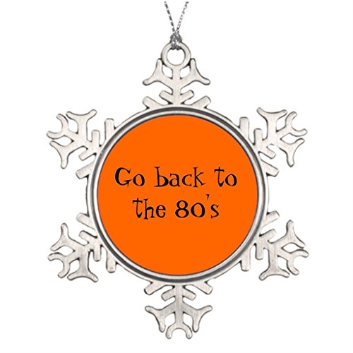 Xixitly Personalised Christmas Tree Decoration Go back to the 80's Satire House Christmas (Miami Vice Halloween)