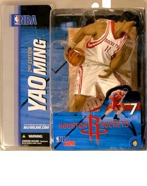 McFarlane Toys NBA Sports Picks Series 7 Action Figure Yao Ming (Houston Rockets) White Jersey Variant