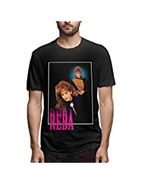 Reba-McEntire Fancy Mens Tees Fation Women Loose Short-Sleeved T-Shirt Black
