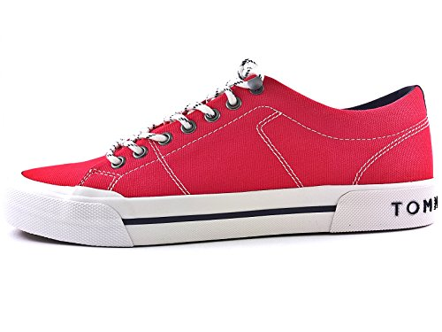Tommy Hilfiger ARMOUTH 2D 2285 Sneakers Uomo Tessuto Tango Red Tango Red 46