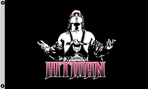 FANSFLAG Bret The Hitman Hart WWF Wrestling 3x5ft Flag Banner