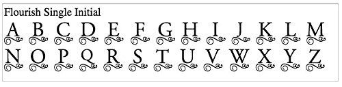 Carved Solutions 735255447767  Medium Everyday Board with Etched Flourish initial H.