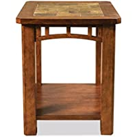 End Table with Natural Slate Insert Top