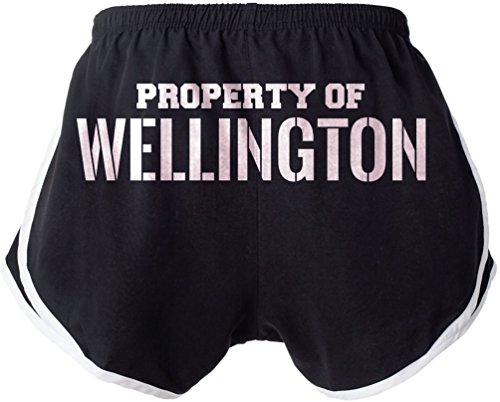 Property of WELLINGTON Booty Shorts Beach Gym Ladies Womens Sexy & Funny Small - Beach Wellington