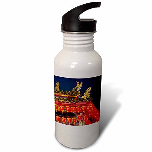 3dRose Danita Delimont - Temples - Cixian Temple dedicated to Matsu in Shilin, Taipei, Taiwan - Flip Straw 21oz Water Bottle (wb_276936_2) Taipei Lantern