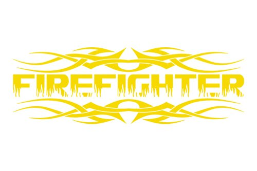 Sticky Creations - Design #110 Firefighter Flame Font Rear Back Window Decal Sticker Vinyl Graphic Tribal Accent Letters or Custom Text Tailgate Car Truck SUV Van Wall | 36