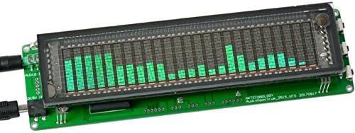 AOSHIKE 15 Level VFD Music Audio Spectrum Indicator Amplifier Board Level Indicator VU Meter Speed Adjustable AGC Mode with Case