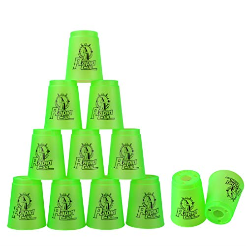 (Quick Stacks Cups, 12 PC of Sports Stacking Cups Speed Training Game(Green))